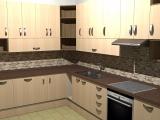Kuchyňská linka - bříza (fotorealistický náhled)